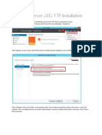 Windows Server 2012 FTP Installation