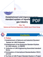 Establishment and Improvement for Standard System of Liquefied Natural