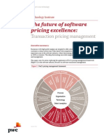 the Future of Software Pricing Excellence Transaction Pricing Management