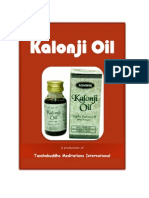 Benefits of Kalonji Oil - The Universal Remedy