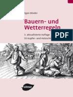 Bauern- Und Wetterregeln