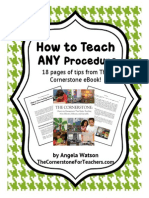 How to Teach Any Procedure or Routine