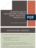 1.Introduction to Occupational Hazards, Work, Health