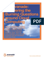 Answering the Burning Questions Around Cloud Computing