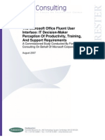 2007 Microsoft Office Fluent UI Study IT Managers - Forrester Research