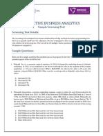 PBA_Sample Screening Test