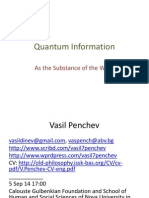 Quantum Information as the Substance of the World