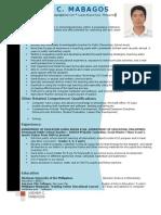 CV- Resume Joemer C. Mabagos