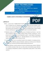 Fabrication of Hydrilic Rod Bending Machine