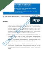 Fabrication of Hydrilic U-type Angle Bending Machine