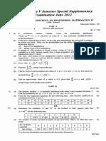 Engineering Mathematics IV 2012 June (2006 Ad)