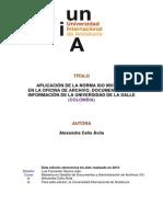 Aplicación de La Iso 9001-2008 en La Oficina de Archivo 0336_celis