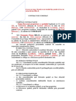 Model Contract de Comodat