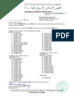 Halal Certificate C100