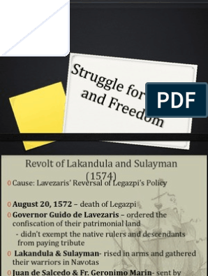 Struggle for Rights and Freedom | Spanish Colonization Of The