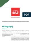 SimpleBold Photog Style Guide PHOTOSHOOT