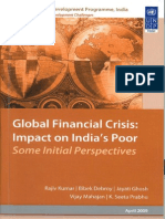Impact of the Financial Crisis on the Poor in India Some Initial Perspectives