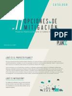 77 opciones de mitigación. Proyecto de Planificación ante el Cambio Climático