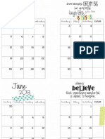 May-August 2013 Planner Printable