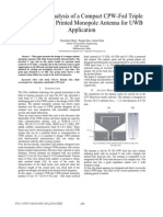 Design and Analysis of a Compact CPW-Fed Triple Band Notched Printed Monopole Antenna for UWB Application