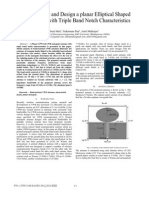 Modal Analysis and Design a planar Elliptical Shaped UWB antenna with Triple Band Notch Characteristics