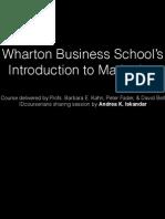 Wharton's Introduction to Marketing