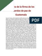 La Firma de La Firma de Los Acuerdos de Paz de Guatemala