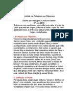 Epistola de Policarpo Aos_Filipenses