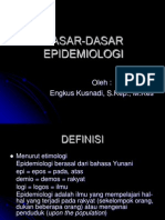 Dasar Dasar Epidemiologi