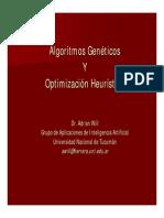 Algoritmos Genéticos y Optimización Heurística