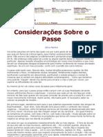 Celso Martins - Considerações Sobre o Passe