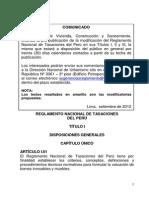 Reglamento Nacional de Tasaciones1.
