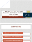 Historiografía Literaria ¿Periodos Históricos o Códigos Culturales