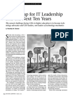 A Roadmap for IT Leadership and the Next Ten Years