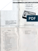 Manual - Ponte Analogica LCR-740