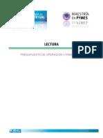 Presupuesto de Operación y Financiero