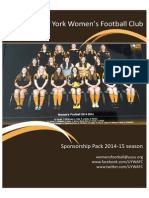 University of York Women's Football Club Sponsorship Pack 2014-15