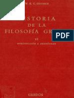 W. K. C. Guthrie, Historia de La Filosofía Griega VI Introducción a Aristóteles