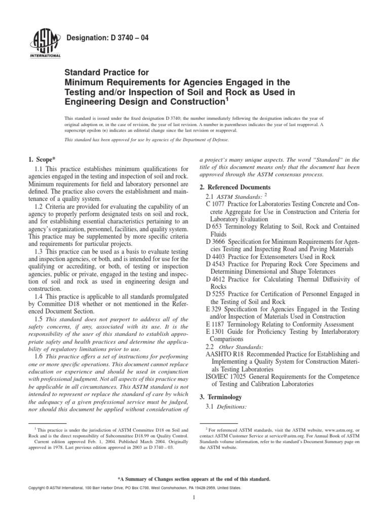 Astm d3740 pdf