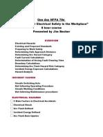 NFPA70e Outline