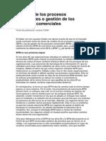 Análisis de Los Procesos Comerciales o Gestión de Los Procesos Comerciales