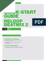 Serato DJ Reloop Beatmix 2 Quickstart Guide