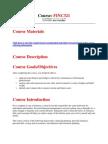 FINC 321 Course Syllabus