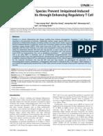 Reactive Oxygen Species Prevent Imiquimod-Induced Psoriatic Dermatitis through Enhancing Regulatory T Cell Function