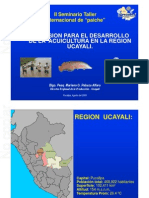 02 Inversión Para El Desarrollo de La Acuicultura en Ucayali