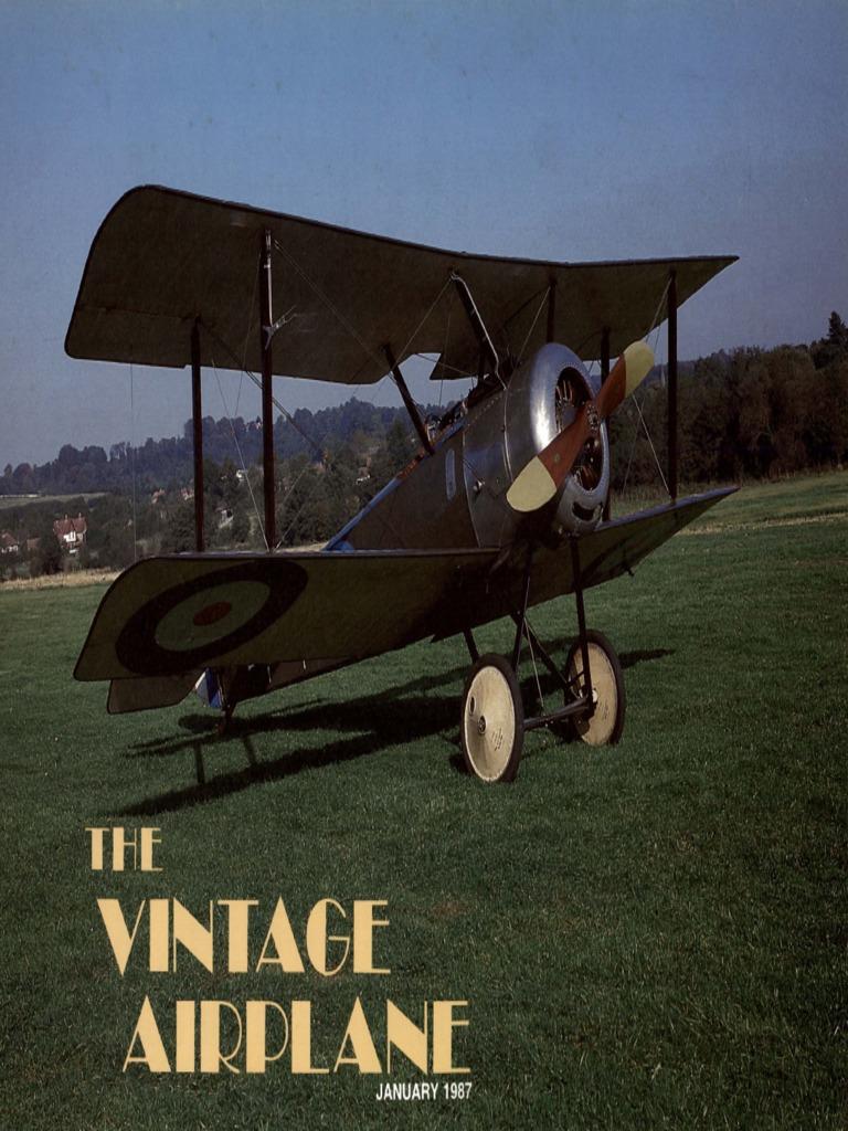 Vintage Airplane Jan 1987 Experimental