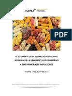 Reforma de La Ley de Semillas en Argentina. Análisis de La Propuesta Del Gobierno y Sus Principales Impulsores
