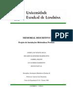 Memorial Descritivo Final