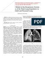 Mathematical Model of Respiratory System - Comparison of the Total Lung Impedance in the Adult and Neonatal Lung