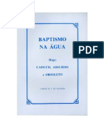Baptismo Na Água - Carlos M. Oliveira
